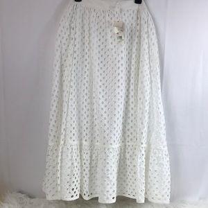66a25d9a13 Tory Burch Skirts - Tory Burch Hermosa Eyelet Midi Skirt